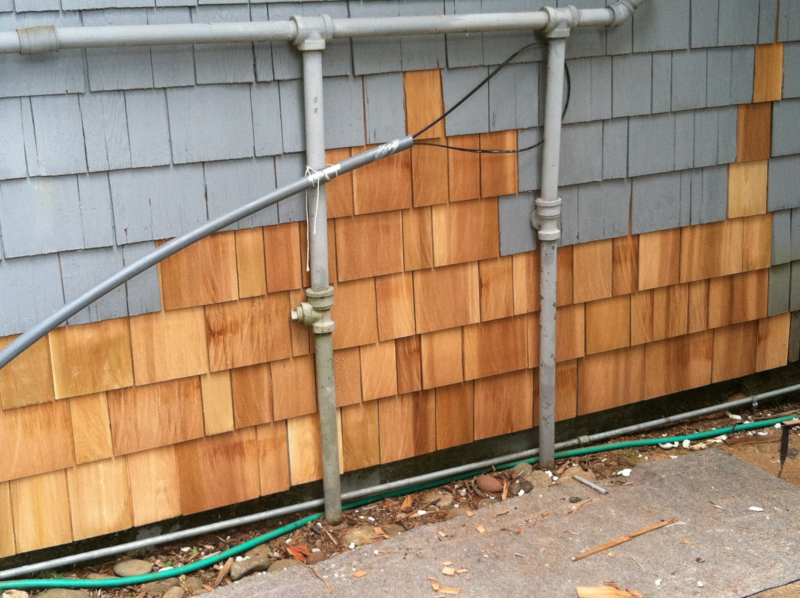 Popular options for cedar shingle siding siding for Wood shingle siding cost