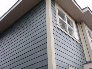 Fiber cement siding gives an attractive look to for Cedar shake siding pros and cons