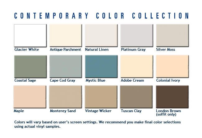 Vinyl siding colors siding for Popular vinyl siding colors